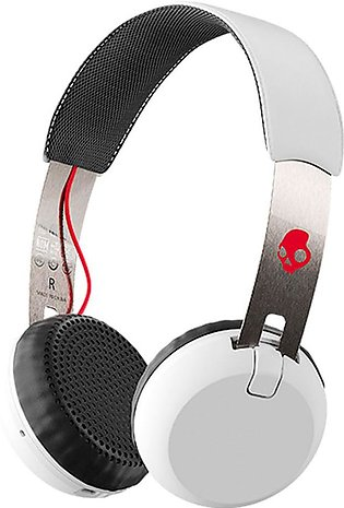Skullcandy Grind Bluetooth Wireless On Ear Headphones with Mic – White, Black...