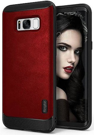 Galaxy S8 Ringke Flex S Leather Infused Case - Red