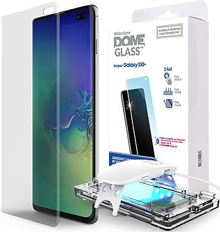 Galaxy S10 Whitestone Dome Glass with UV Light & Easy Install Kit