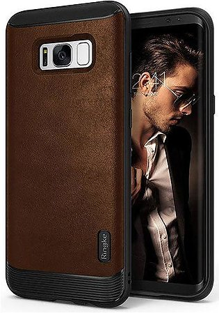 Galaxy S8 Plus Ringke Flex S Leather Infused Case - Brown