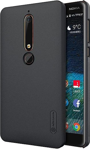 Nokia 6.1 (Nokia 6 2018) Frosted Shield Back Cover by Nillkin - Black