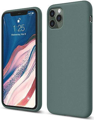 iPhone 11 Pro Max Liquid Silicon Case by X Fitted – Pine Green