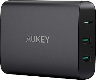 AUKEY USB C Charger with 60W Power Delivery 3.0 & Dual Port USB Charger – PA-Y12
