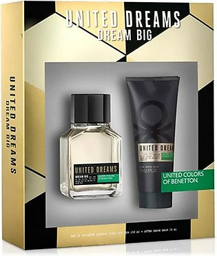 Benetton United Dreams Dream Big Gift Set For Men (EDT 100Ml + After Shave Balm…