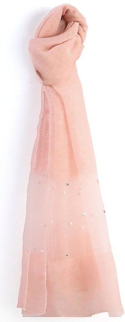 BEADED SCARF-PINK