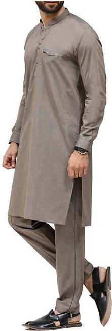 Grey Cotton Kameez Shalwar - AL-KS-2423
