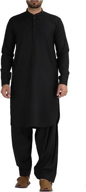 Black Blended Kameez Shalwar - AL-KS-2472