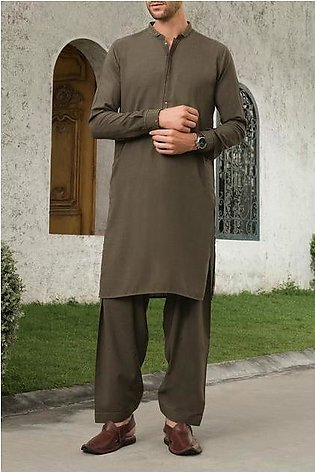 Green Blended Kameez Shalwar - AL-KS-2446