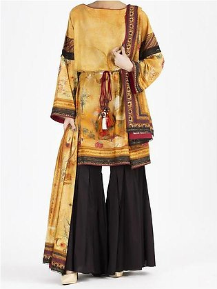 Yellow Lawn 2 Piece Unstitched - ALP-2PS-864