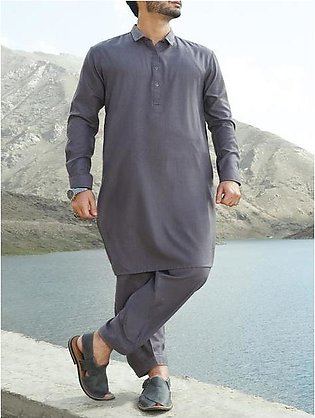 Grey Blended Kameez Shalwar - AL-KS-2404