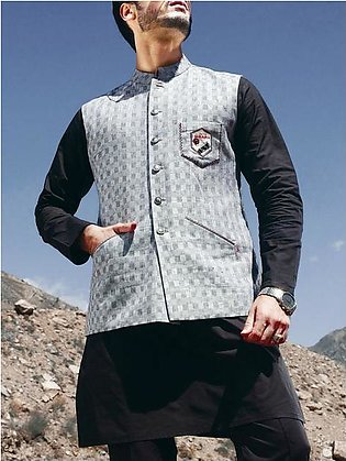 Light Grey Blended Waistcoat - WC-257