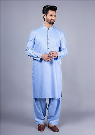 Classic Poly Viscose Lichen Blue Coat Sleeves Classic Fit Suit