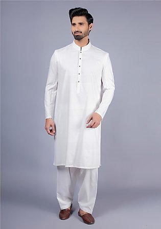 Classic Poly Viscose Bright White Coat Sleeves Classic Fit Suit