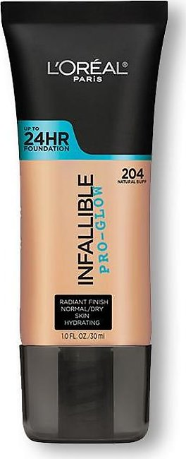 Loreal Infallible Pro Glow Upto 24 Hr Foundation (204 Natural Buff)