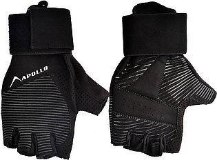 APOLLO WEIGHT LIFTING TRAINING GYM GLOVES FAWG39 – BLACK