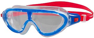 SPEEDO SWIMMING MASK ANTI-FOG BIOFUSE RIFT MASK SWIM GOGGLE JUNIORS – CLEAR/RED