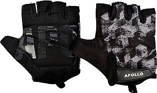 APOLLO WEIGHT LIFTING TRAINING GYM GLOVES FAWG27 – BLACK/GRAY