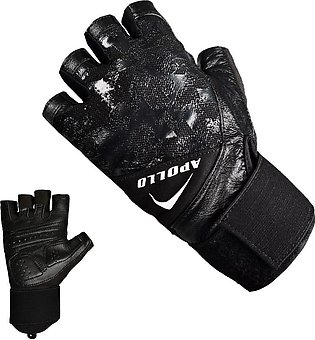 APOLLO WEIGHT LIFTING TRAINING GYM GLOVES FAWG45 – BLACK