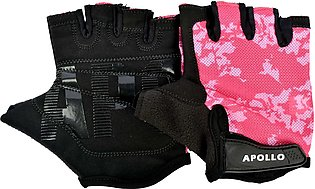 APOLLO WEIGHT LIFTING TRAINING GYM GLOVES FAWG27 – BLACK/PINK