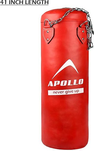 APOLLO 9BPR50 PUNCHING BAG FILLED – RED – 41 INCH LENGTH