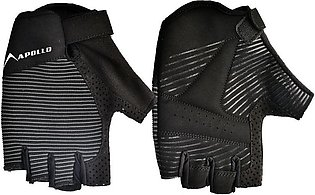 APOLLO WEIGHT LIFTING TRAINING GYM GLOVES FAWG29 – BLACK