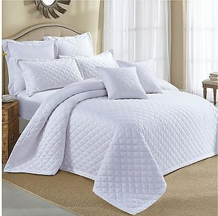 Oyster pearl bed spread set