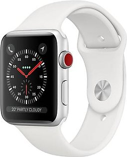 Apple Watch Series 3 GPS + Cellular 42mm Silver Aluminum with White Sport Band (MTGR2)