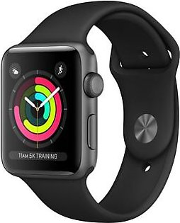Apple Watch Series 3 MTF02 38mm Space Grey Aluminium Case With Black Sport Band (GPS)