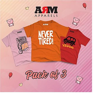 Pack of 3 T-Shirt For Kids