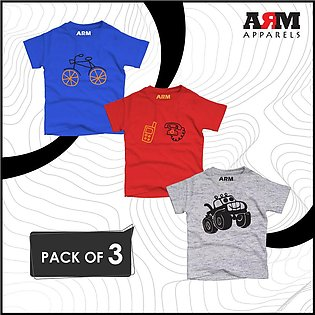 Pack of 3 T-Shirt For Kids – BICY-TELE-JEEP
