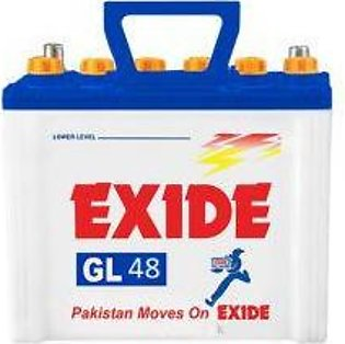 Exide Battery GL48 For Engine Capacity 650-800 CC