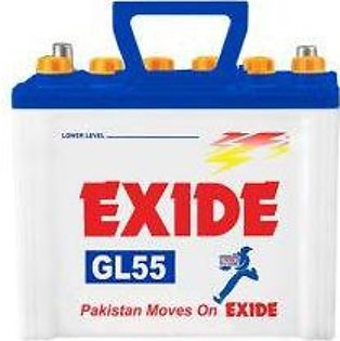Exide Battery GL55 For Engine Capacity 1000-1300 CC