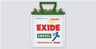 Exide Battery CNG50L For Engine Capacity 1000–6000 CC