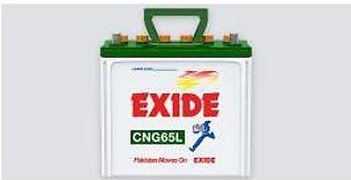 Exide Battery CNG65L For Engine Capacity 1200-16000 CC