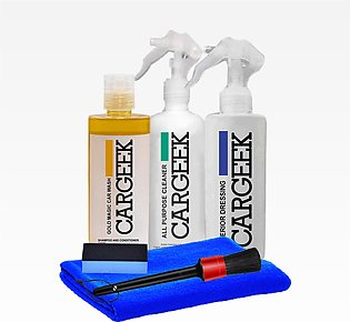 Car Geek (Pack Of 6) - ALl Purpose Cleaner - Interior Dressing - Wash Wax - Tow…