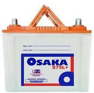 Osaka Battery S75L+ For Engine Capacity 1000-2000 CC