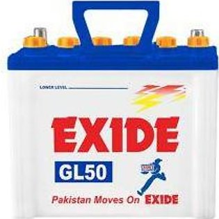 Exide Battery GL50PLUS For Engine Capacity 800-1000 CC