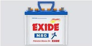 Exide Battery N80 For Engine Capacity 2000–6000 CC