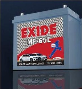 Exide Battery MF65 For Engine Capacity 1300-1600 CC