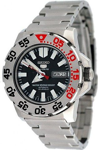 Seiko Black Stainless Steel Watch For Men – SNZF47K1