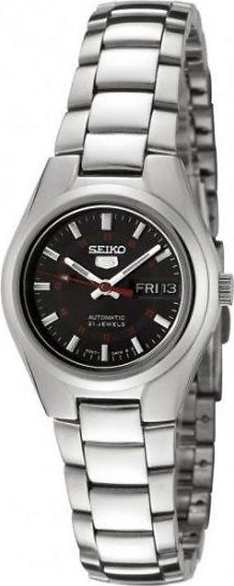 Seiko Women's SYMC27 Seiko 5 Automatic Black Dial Stainless Steel Watch