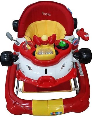 Infantes Baby Walker Red & White