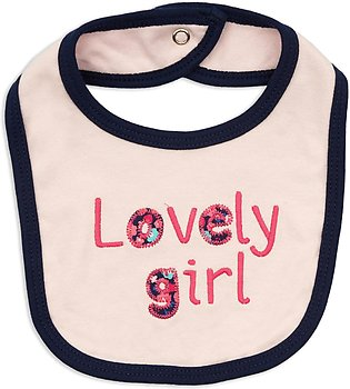 Juniors Baby Bib Lovely Girl Light Pink