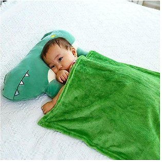 Little Sparks Baby Pillow & Winter Shawl Crocodile Green