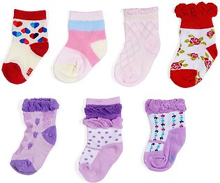 Little Star Pack of 7 Baby Socks (Girl)