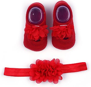 Little Star Baby Gift Set 2Pcs Flower Red