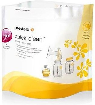 Medela Quick Clean Microwave Bags (Pack of 5) 100 Uses