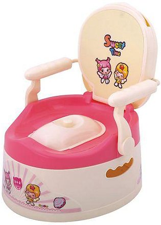 Junior Baby Potty Seat Pink & Beige