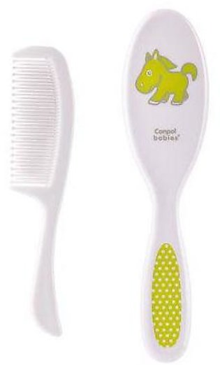 Canpol Babies Soft Baby Brush And Comb Transparent Green