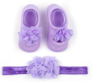 Little Star Baby Gift Set 2Pcs Flower Purple